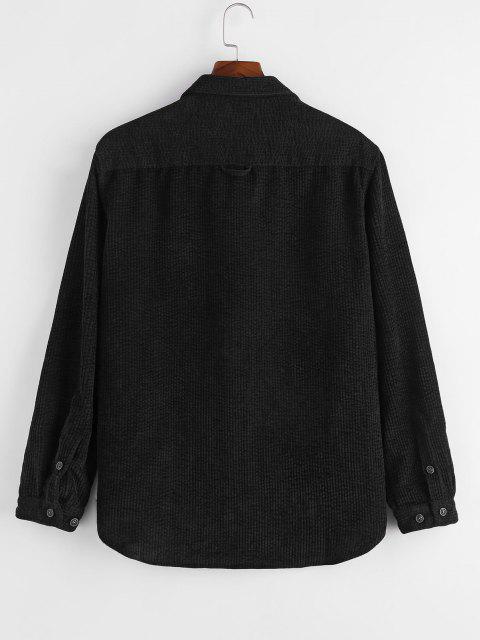 Camisa de Pana con Bolsillos Dobles - Negro 3XL Mobile