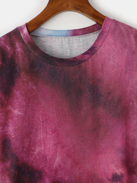 unique Tie Dye Drop Shoulder Longline T-shirt - CONCORD S Mobile
