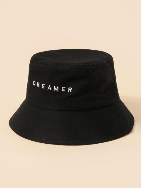 outfit Brief Embroidery Dreamer Bucket Hat - BLACK  Mobile