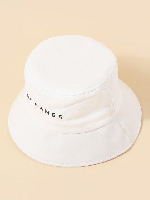 Cappello da Pescatore Dell'esercito Vintage a Forma di Secchio con Ricamo Floreale - Bianca  Mobile