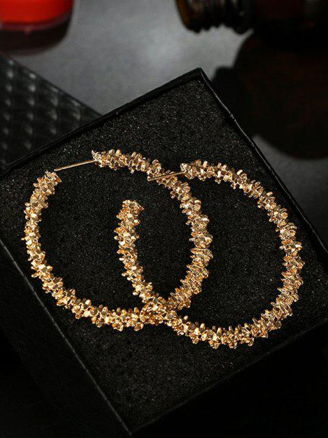 latest Textured Hoop Earrings - GOLDEN  Mobile