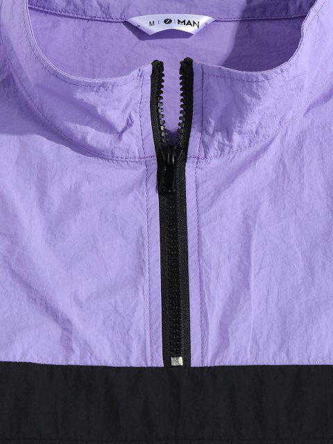 hot ZAFUL Colorblock Panel Jacket and Pants Set - MULTI 2XL Mobile