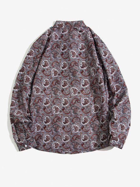 women's Paisley Print Long Sleeve Shirt - MULTI S Mobile