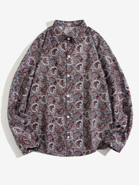 women's Paisley Print Long Sleeve Shirt - MULTI 2XL Mobile