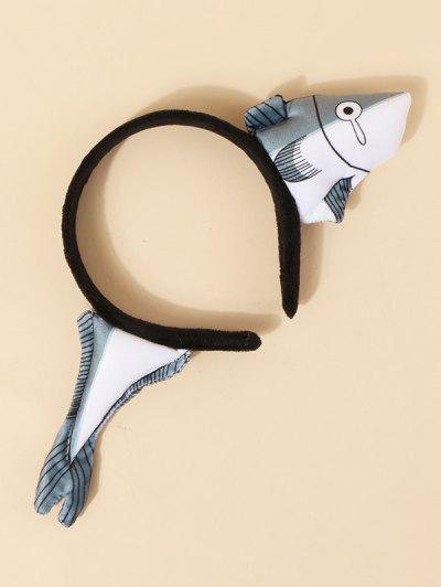 Cartoon Plush Fish Hairband - Gray