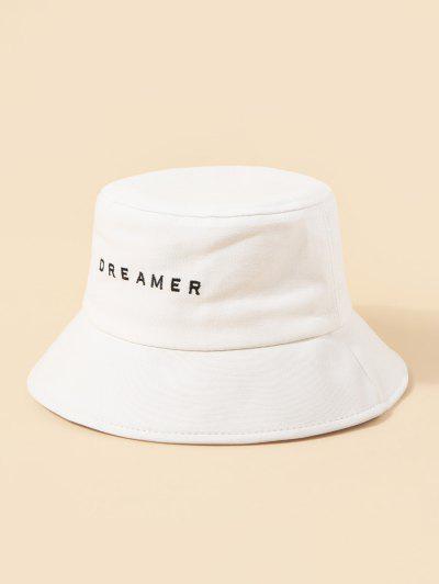 Chapéu De Tartã De Costura De Bordado - Branco