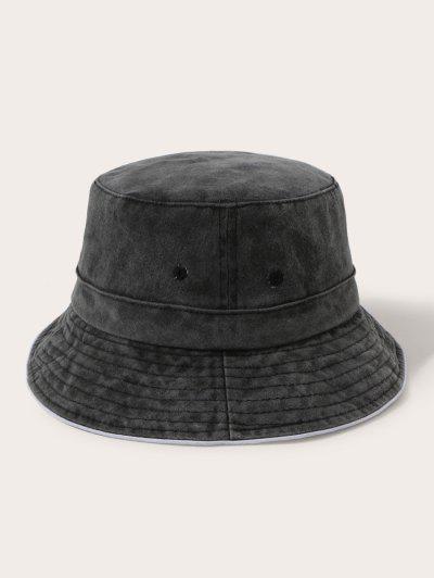 Chapéu De Balde Clássico De Algodão - Preto