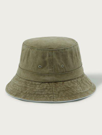 Retro Washed Cotton Bucket Hat - Khaki
