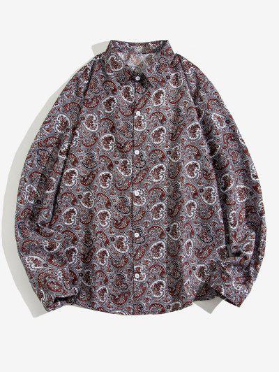 Paisley Print Long Sleeve Shirt - Multi 2xl