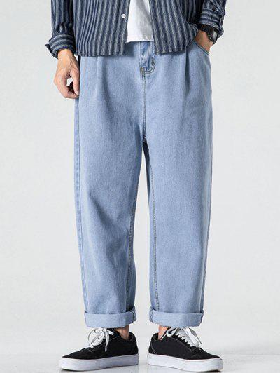 Mittlere Gerade Bein Jeans - Hellblau S