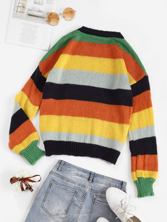 Colorblock Striped Sweater - Multi | ZAFUL