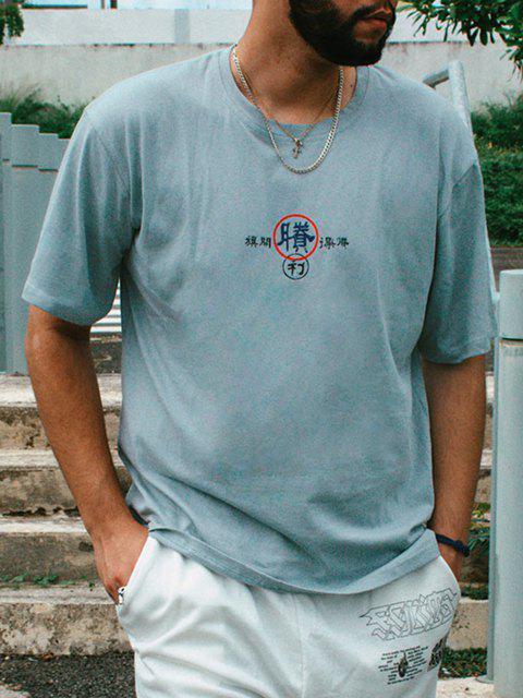 T-shirt shirt Especial de Emagrecimento Gráfico de Mangas Curtas para Homens - Azul claro 2XL Mobile