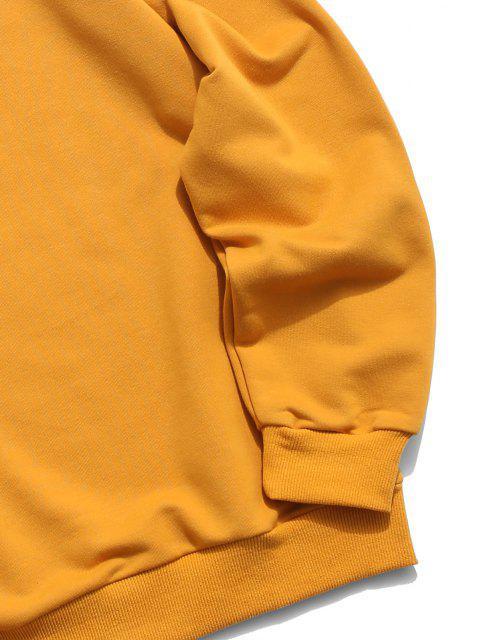 Sweatshirt de BaseLettreImprimée - Orange d'Or XL Mobile