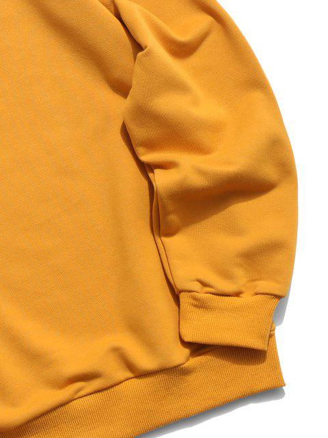 outfits Letter Print Basic Sweatshirt - ORANGE GOLD 2XL Mobile