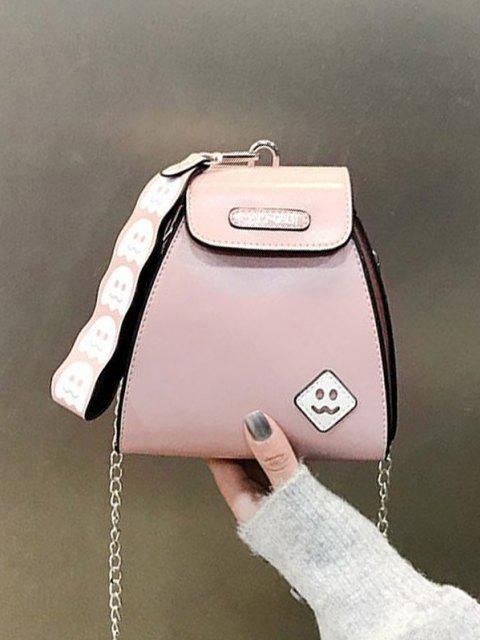 Mini Bolsa de Mano Cuero PU Patrón Fantasma - Rosa claro  Mobile