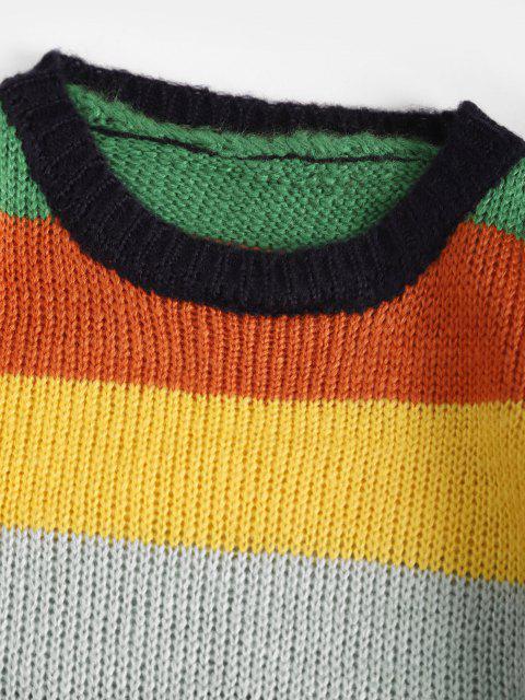 配色ストライプセーター - マルチ ワンサイズ Mobile
