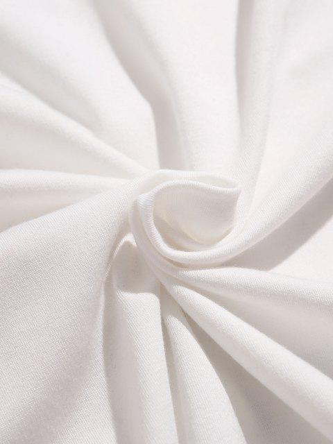 ZAFUL Sweatshirt mit Buchstabedruck - Weiß 2XL Mobile