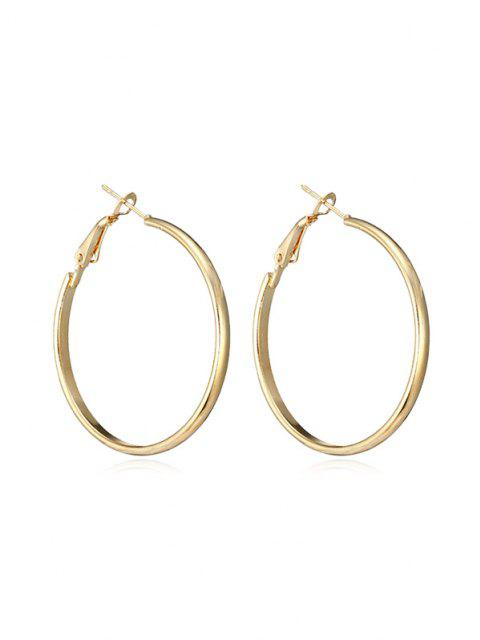 lady Brief Big Hoop Earrings - GOLDEN  Mobile