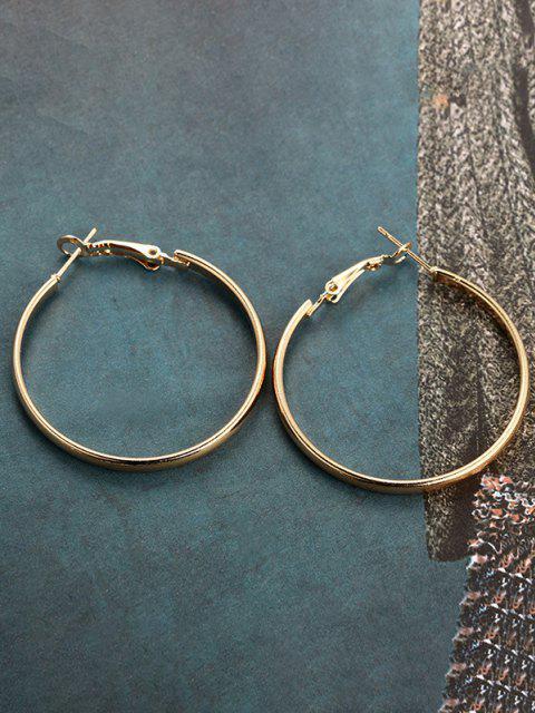 lady Brief Big Hoop Earrings - GOLDEN  Mobile
