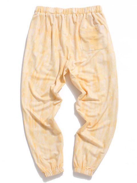 Pantalones Estampado Teñido Anudado - Amarillo 2XL Mobile