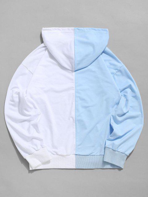 fancy Tokyo Two Tone Hoodie - LIGHT BLUE M Mobile