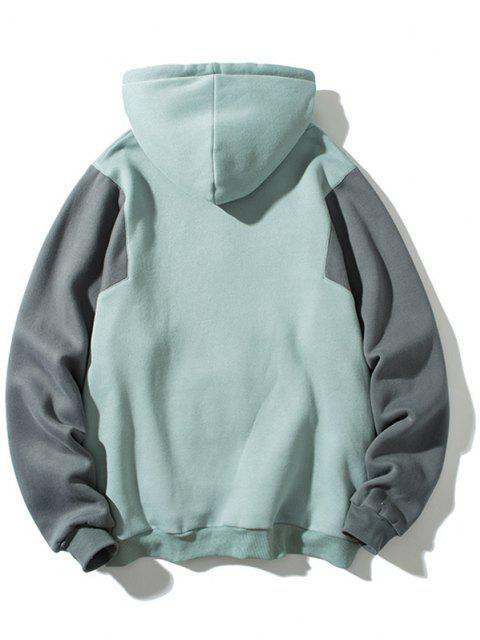 new Color Blocking Fleece Hoodie - MULTI-B 2XL Mobile