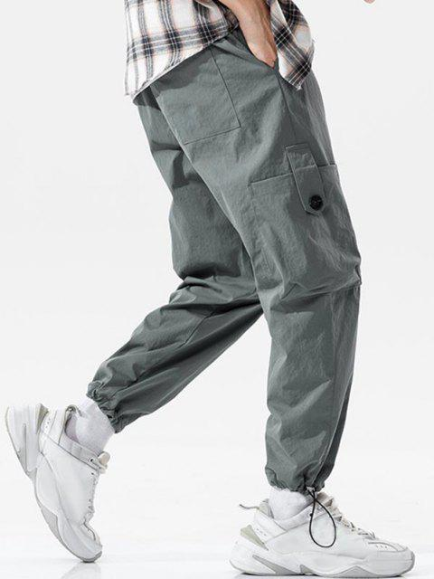 Toggle Taschen Manschette Cargo Hose - Dunkelgrau 3XL Mobile