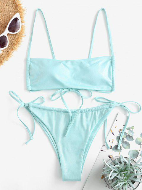 ZAFUL Bikini de Oscilación con Lazo - Verde L Mobile