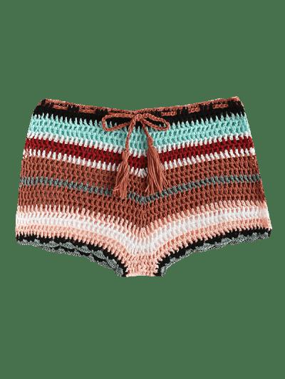 Colorful Crochet Tassel Beach Shorts