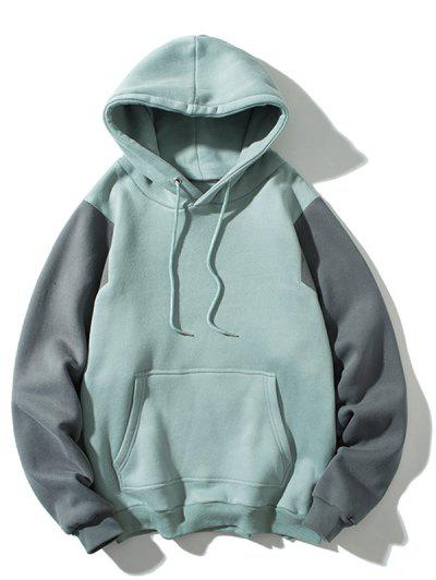 Color Blocking Fleece Hoodie - Multi-b 3xl