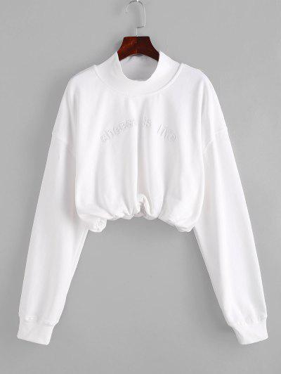 High Neck Embroidered Sweatshirt