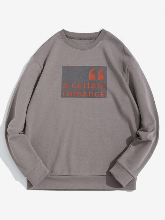 womens A Certain Romance Pattern Pullover Sweatshirt - GRAY XL