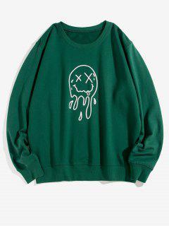 Sweat-shirtDécontractéGraphiqueVisageàColRond - Vert Profond Xs