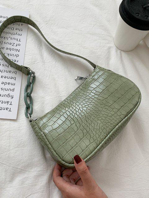 new Animal Embossed Leather Underarm Shoulder Bag - LIGHT GREEN  Mobile