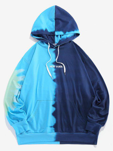 women ZAFUL Colorblock Tie Dye Letter Hoodie - MULTI L Mobile