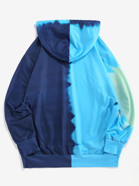 ladies ZAFUL Colorblock Tie Dye Letter Hoodie - MULTI 2XL Mobile