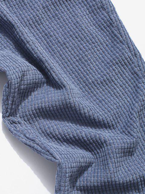 Pantalones Rayados Cintura Elástica - Azul 2XL Mobile