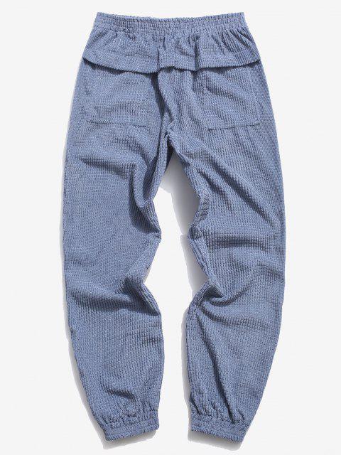 Pantalones Rayados Cintura Elástica - Azul XL Mobile