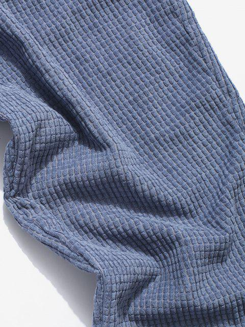 Pantalones Rayados Cintura Elástica - Azul L Mobile