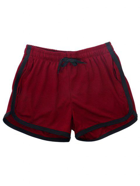 shops Pinhole Mesh Leisure Dolphin Shorts - DEEP RED M Mobile