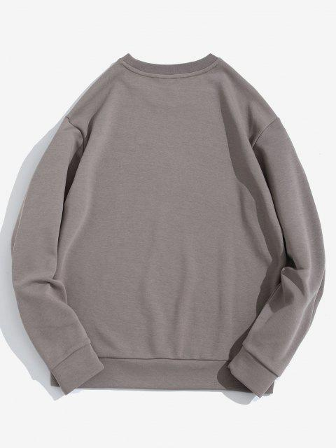 womens A Certain Romance Pattern Pullover Sweatshirt - GRAY XL Mobile