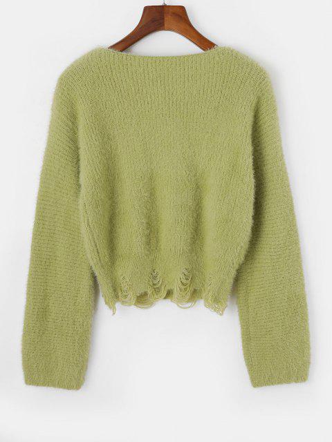 ネックファーユーズドセータースラッシュ - 緑 ワンサイズ Mobile