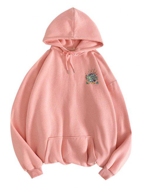 fancy Summer Freedom Pizza Graphic Hoodie - PINK S Mobile