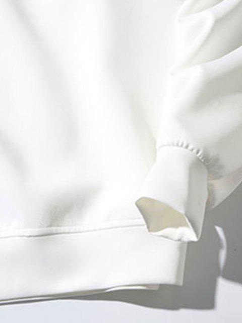 Moletom suéter com padrão de gato - Branco L Mobile