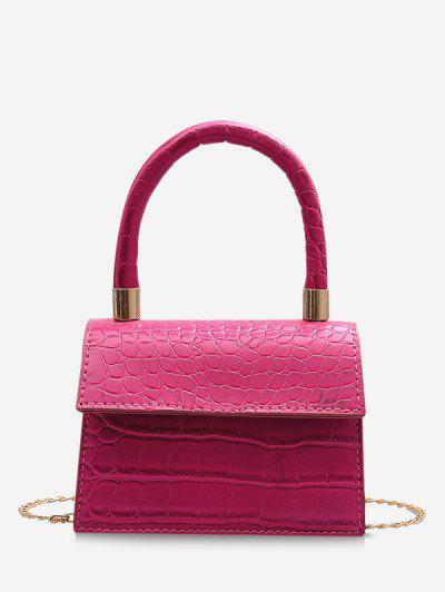 Animal Embossed Mini Square Tote Bag - Light Pink