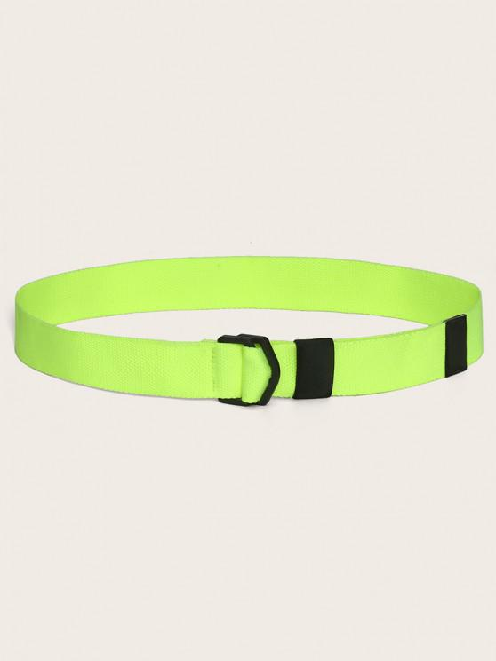 Neon Canvas Non-metal Buckle Belt - الشاي الأخضر