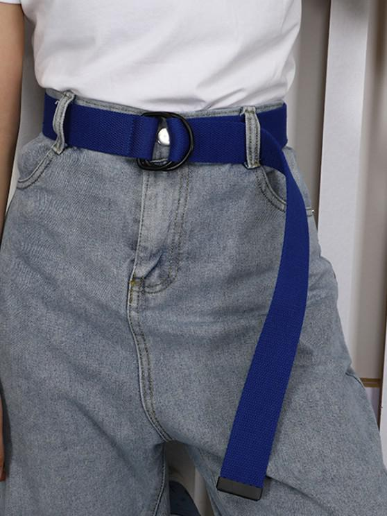 best Leisure Unisex Canvas Double Ring Buckle Belt - BLUEBERRY BLUE