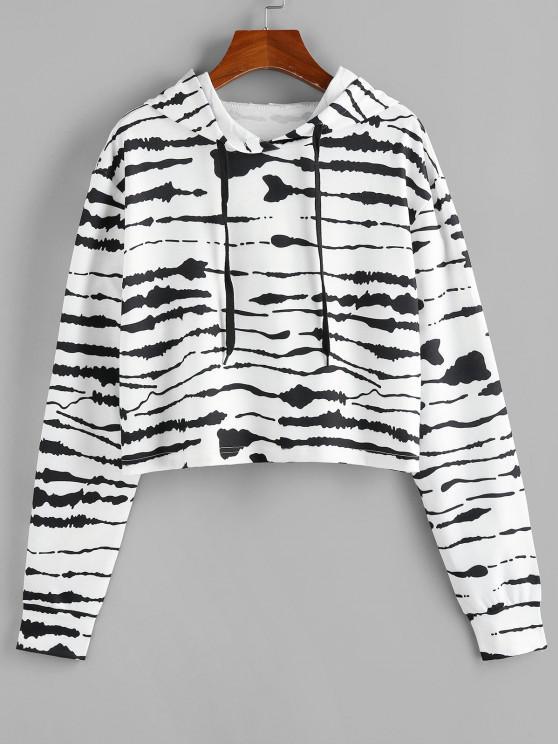 fashion ZAFUL Tie Dye Drawstring Pullover Hoodie - BLACK S