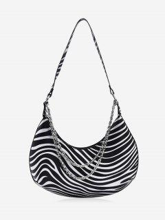 Half-moon Layered Chain Underarm Shoulder Bag - Multi-s