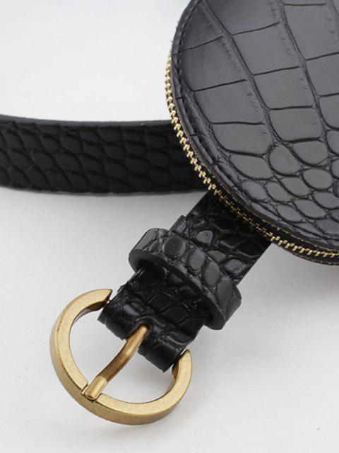 outfits Textured Round Bag Buckle Belt - BLACK  Mobile